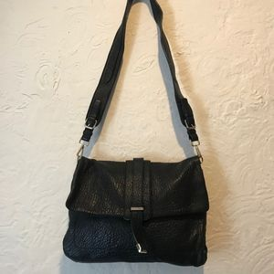 Calvin Klein Black Leather Messenger Bag